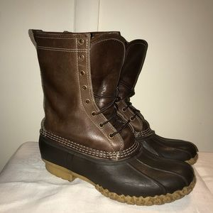 "LL Bean Shearling Lined 10"" Bean Boots"